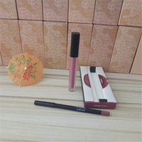 Wholesale Pvc Liner - Europe and the explosion of cosmetic lip gloss lip liner Lip Gloss Set + PVC package