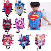 Wholesale Baby Swim Life Jackets - Baby Life jackets Vests batman superman spiderman princess KT drifting vest children swimming life vest kid Rafting life jacket