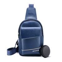 Wholesale Leather Chest Strap - 2017 Brand Bag Men Chest Pack Single Shoulder Strap Back Bag Leather Travel Men's Crossbody Bags Vintage Rucksack Chest Bag
