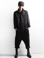 Wholesale New Men Fashion Look - Men's casual fashion jumpsuits han edition of the new spring overalls runway looks conjoined straps trousers   custom