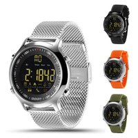 Wholesale Sms Control - EX18 Smart Watch IP67 Waterproof Sport Watches Pedometer Bluetooth 4.0 Call SMS Reminder for Android ios Resistant Smart Watches