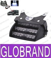 CSPtek 18 Lamp LED azul Strobe Flashing Police Emergency luz de advertência para Car Truck Vehicle GLO382