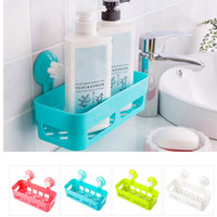 Multifunción impermeable Sucker Corner Shelf Bathroom Kitchen Wall Storage Rack