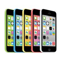 Wholesale 5c Unlock - 100% Refurbished Apple iPhone 5C Cell Phone IOS8 4.0 inch IPS 8GB 16GB 32GB Unlocked