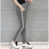Wholesale maternity pants - 2016 Fahion Stripe Adjustable Maternity Leggings Maternity Pants For Autumn Spring