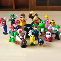 ingrosso bambole yoshi-2015 Nuovo Genuino Super Mario Bros yoshi Figura dinosaurand roid watchtoys Figura gioca SuperMario giocattoli bambola 14 stili V104