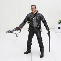 "Wholesale Terminator Toys Wholesale - New Arrival Terminator 2 Judgment Day T-800 Arnold Schwarzenegger PVC Action Figure Collectible Model Toy 7"" 18cm"