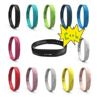 Wholesale Fitness Silicone Wristbands - Soft Sport Silicone Wrist Strap Watchband For Fitbit Flex 2 All-Day Activity Smart Track Fitness Wristband