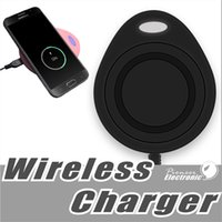 Wholesale qi standard - water-drop Sharp colorful Wireless Fast Charger charging QI Standard Mini Wireless Quick Charger For Iphone X 8 Samsung s8 note8 huawei LG
