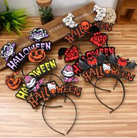 Hallowmas Party Полосы для волос Дети Взрослые Adkinable Pumpkin Bat Witch Vampire Headbands Cute Performance Props Party Decorations 100 шт.