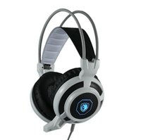 Wholesale High Quality Professional Gaming Headphones - 2016 High quality SADES Professional Gaming Headset Headphone 3.5mm Over Ear Earphone with Mic LED Light Noise Cancellation headphone