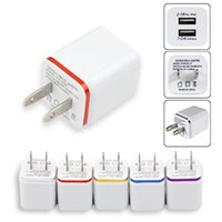 Wholesale usb cube for for sale - Group buy Metal circle Dual USB wall charger cube Travel home Adaptor AC Power Adapter Universal US EU Plug for Samsung Xiaomi