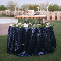 "Wholesale Wedding Overlay Cloths Wholesale - Glitter Sequin Table Overlay 50"" x 50"" Table Cloth for Wedding Decoration Table Cloth For Wedding Supplies"
