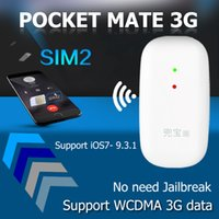 Wholesale Iphone 3g Tray - 3G Data Bluetooth Dual SIM Dual Standby Adapter No Jailbreak for iOS7- 10 Pocket mate 3G Gmate High Speed Internet