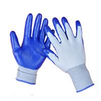 Wholesale Nitrile Gloves Blue - Nitrile Glove Palm Coated Blue Nitrile Working Gloves Safety Glove Wear-Resistant Safety Working Gloves Nitrial Glove