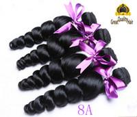 Wholesale Human Weaving Bulk - 8A Brazilian Malaysian Peruvian Indian Virgin Extensions For 8-30 inch Loose Wave Human Hair Weave Brazilian Hair Free Shipping