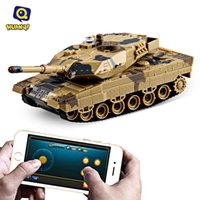 Wholesale Huanqi Toys - Wholesale- Huanqi No.H500 RC Tank Bluetooth 2.0 Infrared Shooting Phone Bluetooth Gravity Sensor Super Power Remote Control Toys For Kids