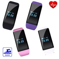 Wholesale Message For Bracelets Men - Waterproof Smart Bracelet D21 Bluetooth Smartwatch with Heart Rate Monitor Smart Watch for Iphone Android IOS Smartphone Men Free Shipping