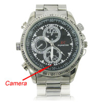 Wholesale Spy Stainless Watches - 16GB 720 x 480P Stainless Steel Spy Camera Watch with Hidden Camera Support Video, Motion Detection