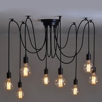 Wholesale Vintage Industrial Edison Pendant - Hardwired Vintage Soft Pendant Light Edison Industrial Chandelier with Soft Bar Restaurant Bedrooms E27 Art Pendant lamp #01