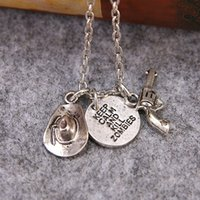 Wholesale walking dead christmas - antique silver punk necklace Movie jewelry The Walking Dead Alloy Gun Necklaces Kill Zombie Pendant Necklace ZJ-0903400