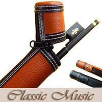 Wholesale Violin Cello - Wholesale- Leather Violin Bow Case, Viola Bow Case, Cello Bow Case, Universal .2 colours