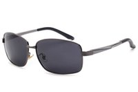 Wholesale Al Alloys - Sunglasses For Men Polarized Sun Glasses Vintage Polar Sunglass High Quality Al-Mg Foot Sunglases Luxury Mens Designer Sunglasses 1L6A1