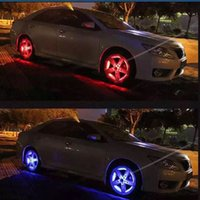 Wholesale Solar Led Car Wheel Lights - 2016 New 4 Modes 12 LED Car Auto Solar Energy Flash Wheel Tire Rim Light Lamp Decoration free shipping