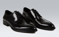 Noble Stringata cuoio elegante di qualità Mens Dress Oxfords Party Shoes commerciali Scarpe a punta con borchie Rivet italiana di stile britannico cucito Lace Up