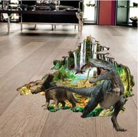 детские фрески динозавров оптовых-Новое прибытие 3D динозавр стикер стены термоаппликации росписи искусства стены стикеры для детей номеров Home Decor