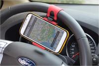 auto lenkrad mobilen mount großhandel-Universal Car Streeling Lenkrad Cradle Halter SMART Clip Auto Fahrradhalterung für Handy iphone Samsung Handy GPS + Kleinkasten US03
