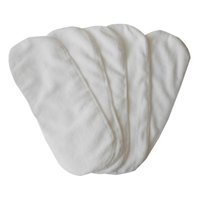 Wholesale Diaper Reusable - newborn baby infant cloth diapers 2 layer nappy liners Microfiber napkin inserts washable reusable Thickening soft and breathable white