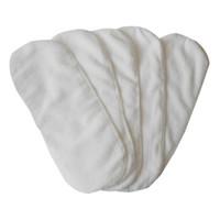 yeni doğmuş bez bezleri toptan satış-Yenidoğan bebek bebek bezi bezi 2 katmanlı bezi gömlekleri Mikrofiber peçete ekler yıkanabilir kullanımlık Kalınlaşma yumuşak ve nefes beyaz