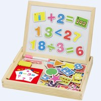 Wholesale Wooden Magnetic Drawing Board - wooden toys Preschool children's mathematical shape magnetic drawing board sided fight music toys educational toys Jigsaw toy
