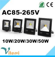 proyectores de alta potencia al por mayor-Reflector LED 10W 20W 30W 40W 50W AC85-265V Luz de inundación COB impermeable lámpara de billboard de alta potencia al aire libre IP65