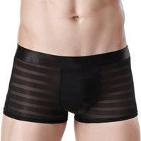 Wholesale Popular Underwear - Poland Popular 2017 Fashion Vogue Men Underwear Boxers Shorts Brand Design Male Waistband Sexy Low-waist Male Transparent Gay Underpant