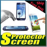 Wholesale Mini S4 Real - 9H Explosion Proof Premium Real Tempered Glass Guard Film Screen Protector For Samsung Galaxy Note 5 4 3 S2 S3 S4 S5 Mini Free DHL 200pc