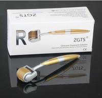 Wholesale Hair Rollers Pins - 192 Needles ZGTS Derma Roller Titanium Alloy Dermaroller Micro Needle Roller System Zgts Dermaroller 192 Pins For Hair Loss Treatment
