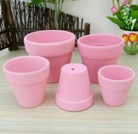 ingrosso piccoli vasi da giardino-D5XH4CM Mini carino rosa fioriere in ceramica secchi piccola argilla fioriera giardino antico d'epoca piccoli vasi vivaio