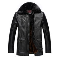Wholesale Fall Middle aged Men s Fashion Design Classic Temperament Mens Leather Jackets And Fleece Warm Outdoor Wind Leather Jacket Fur Men