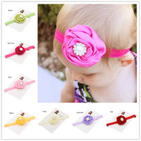 Headbands other other Wholesale 20pcs Newborn baby Photo Props flower baby headband hairbands flower infant hair bows Cheap hair bow accessories Baptism Gift