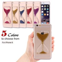 Wholesale funny hard case online – custom Fantasy Hourglass Back Case for iPhone7 plus Dynamic Quicksand Funny Transparent Hard Clear Cellphone Cover For Apple iPhone s sp