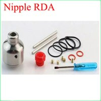 Wholesale Drip Nipple - 2016 new clone Nipple RDA Atomizer 316 Stainless Steel Rebuildable Dripping Atomizer Mini E Cigarette RDA Tank in stock free delivery