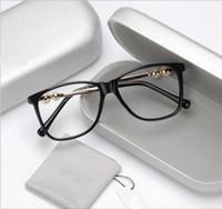 titan brillen rahmen für frauen großhandel-Perle großformatigen flachen Spiegel temperamentvolle und den weiblichen Stil der künstlerischen Frauen Seite Myopie Brillengestell