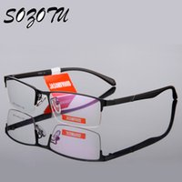 Wholesale- óculos ópticos Frame Men Computer Myopia Eye Glasses Spectacle Frame for Male Transparent Clear Lens Armacao Oculos de YQ038