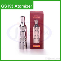 Wholesale Gs Dry Herb - GS K3 Atomizer Clearomizer Glass Tank Dry Herb Vaporizer For EGO-T EGO-C EGO-W EGO-Twist Battery E Cigarette With Metal Drip Tips DHL