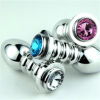 Wholesale Medium Booty Beads - Medium Size Metal Anal Toys Butt Plug Booty Beads Stainless Steel Anal Plug Sex Toys Sex Products For Adults FSEX116