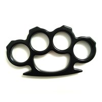 black street fights - Thin cm Thickness Lightweight Brass Knuckle Duster Street Fighting Black and Silver Brass Knuckles Powerful Self Defense Pendant