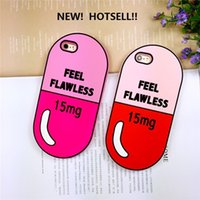 """Wholesale Pill Pouches - 3D Cute Feel Flawless Medicine Pill Case For Apple iphone SE 5C 5S 6 6S 4.7"""" 6 Plus 6S Plus 5.5"""" Silicone Soft Cover"""
