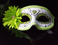 New Arrival Exquisite Flores Máscaras Masquerade Paint Colorful Princess Half Face Máscaras para Mulheres Christmas Birthday Party Supplies